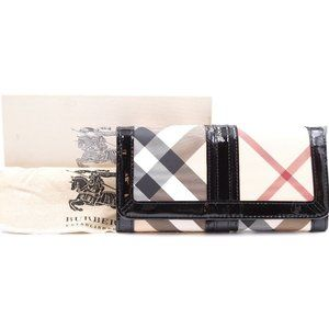 Multicolor Nova Check Pattern Long Flap Wallet